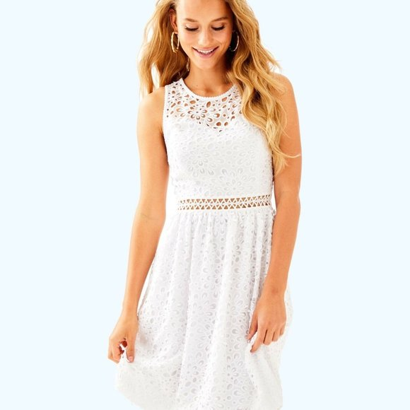 Lilly Pulitzer Alivia White Lace Dress